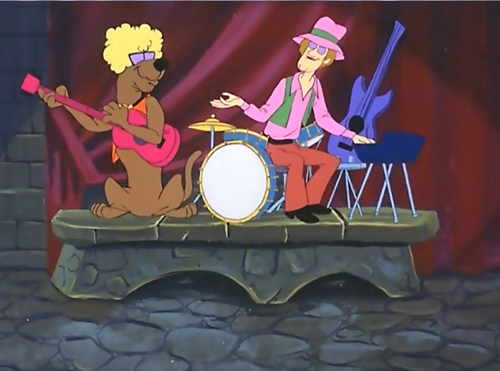 Shaggy and Scooby as Rockers