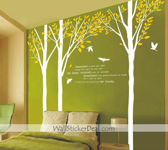 Sometimes We hurt Each Other Tree and Birds Wall Sticker