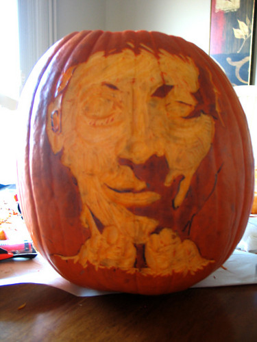 Weeping Angel pumpkin