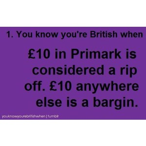 te know your british when ...