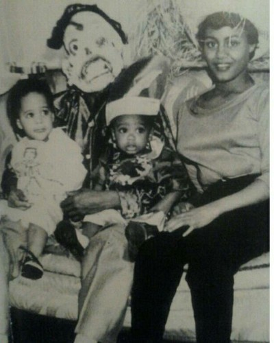 extreme rare little hazel w/her daddy,mother,&lil brother '57