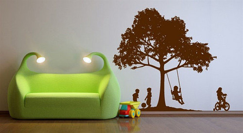 Children Are Playing on the Playground Wall Sticker