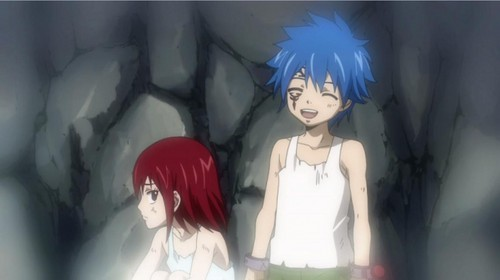 Erza and Jellal as kids