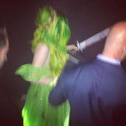 Gaga at a Halloween party in Puerto Rico