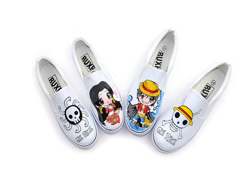 Luffy and Hancock couple shoes