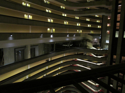 Catching api, kebakaran set in the interior of the Atlanta Marriott Marquis hotel
