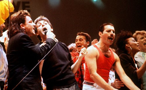 Freddie, Bono and Paul