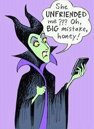 Maleficent using Facebook