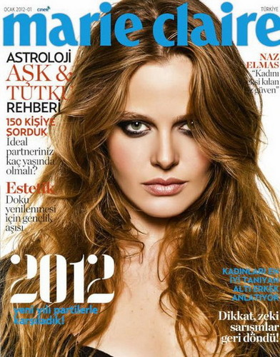 Naz Elmas on the cover of Turkish Marie Claire Magazine