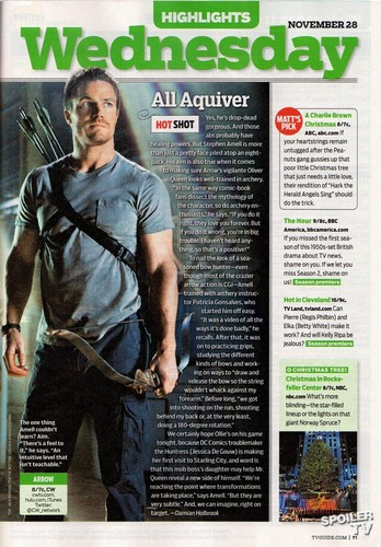 TV Guide Magazine Scans - Various Shows - 19th November 2012