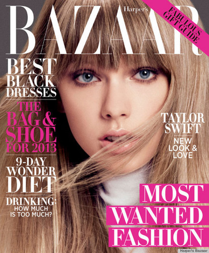 Taylor covers Harper's Bazaar, novemer issue 2012