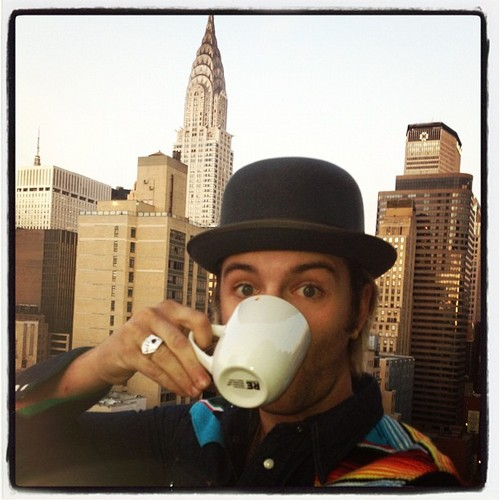 wee cuppa in NYC before hitting the road again