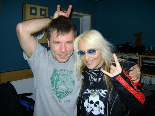 Doro with Bruce Dickinson (Iron Maiden)