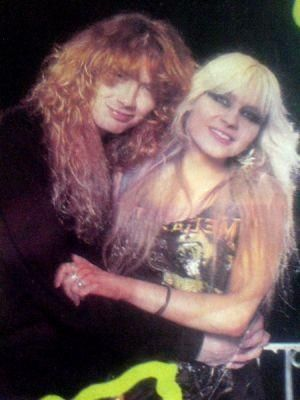 Doro with Dave Mustaine (ex-Metallica,Megadeth)
