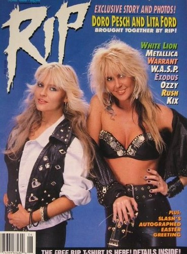Doro with Lita Ford (ex-The Runaways)