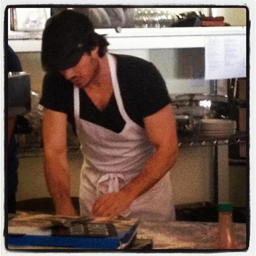NIAN MAKING PIZZA <3