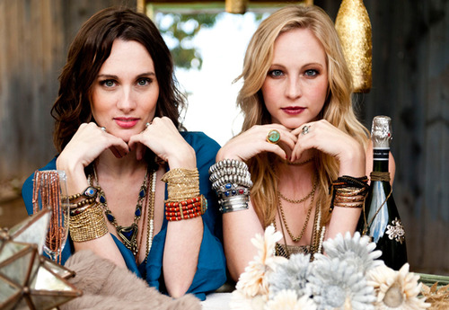 New photo of Candice's photoshoot for Show Me Your Mumu's 2012 Holiday Collection.