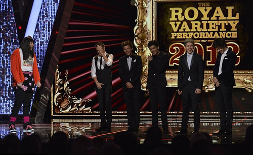One Direction at the Royal Variety Performance. (11/19/12)
