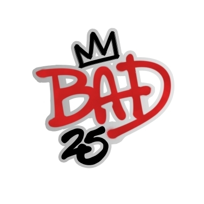 "The ""25th"" Anniversary Edition Of ""BAD"" Logo"