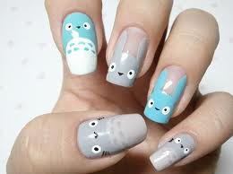 Totoro Style Nails!
