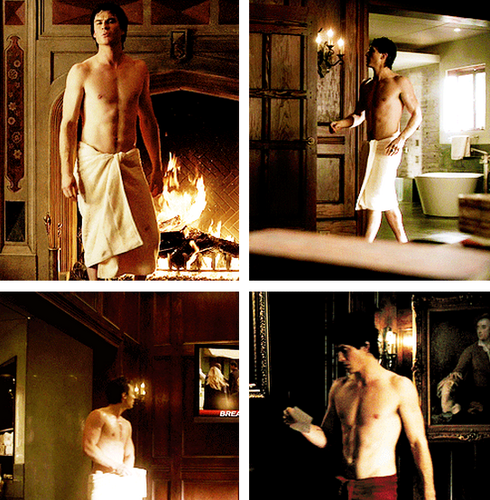 Damon and Towel