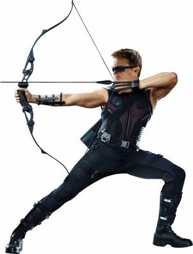 Jeremy as Hawkeye in The Avengers