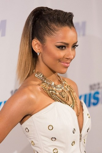 Kat Graham at the Jingle ঘণ্টা Ball.