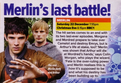 Merlin Finale Spoiler (s) Do Not Read...Seriously If You Don't Want to Know