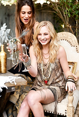 New foto's of Candice for toon Me Your Mumu's 2012 Holiday Collection {Mumu Jewels}.