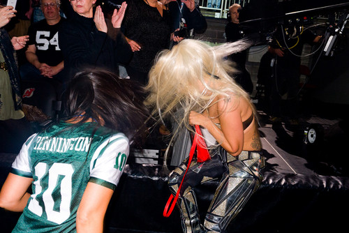 Gaga and Starlight dancing at TRS concert by Terry Richardson