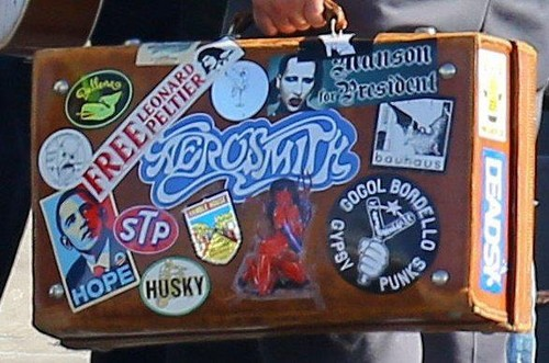 Johnny's cool suitcase:)
