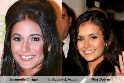 emmanuelle Chriqui, Nina Dobrev Look-a-like