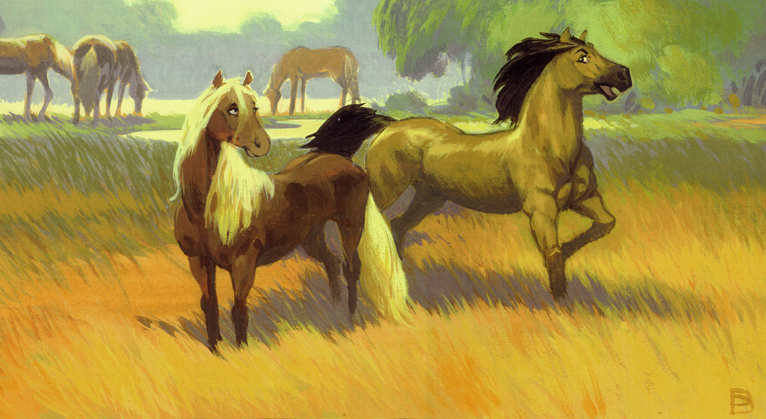★ Spirit Stallion of the Cimarron ~ concept art ☆