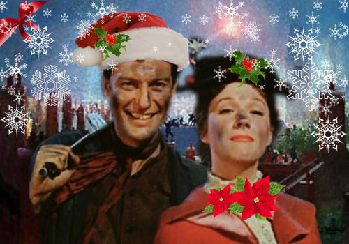 navidad Mary Poppins and Bert