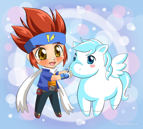 Little Gingka and pegasus
