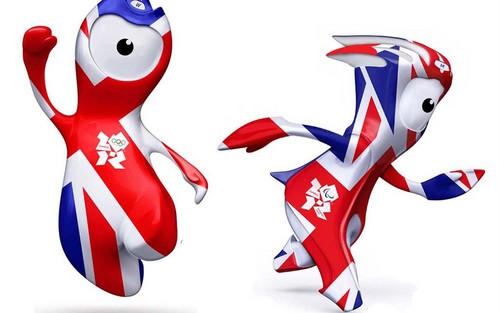 Olympic mascots Wenlock and Mandeville London UK Olympic games