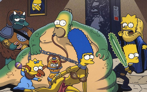 The Simpsons звезда Wars Hut