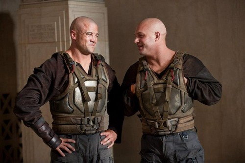 Tom as Bane & Bane Double