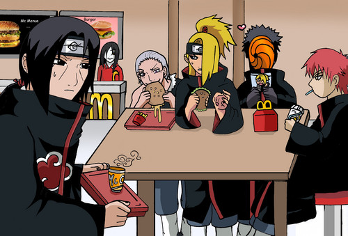 akatsuki eating fast food