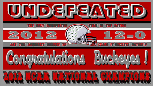 2012 UNDEFEATED NATIONAL CHAMPIONS