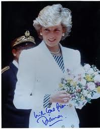 An Autographed litrato Of Princess Diana