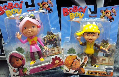 Boboiboy WInd and Yaya figurine toys