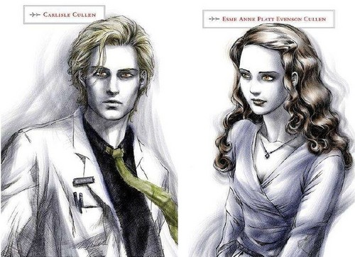 Carlisle and Esme in Twilight Official Illustrated Guide