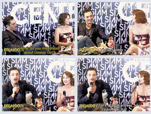 Ed and Leighton miss each other ♥