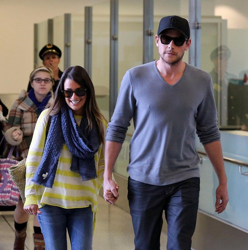 Lea & Cory Arrive At LAX - January 5, 2013