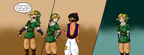 Link and Aladdin joke