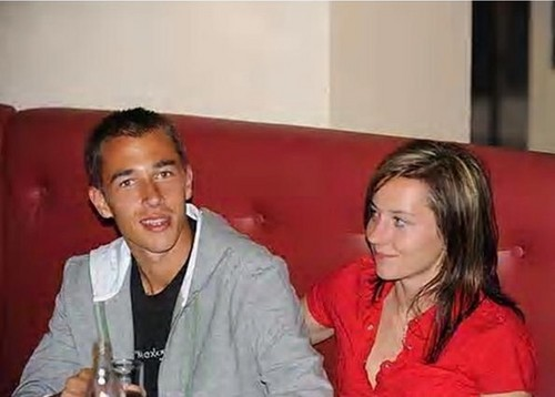 Lukas Rosol with ex wife