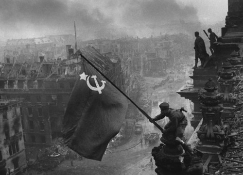 The Soviet Flag Over Berlin Germany