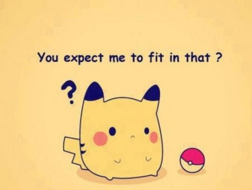 Why pikachu doesnt like it's poke ball.
