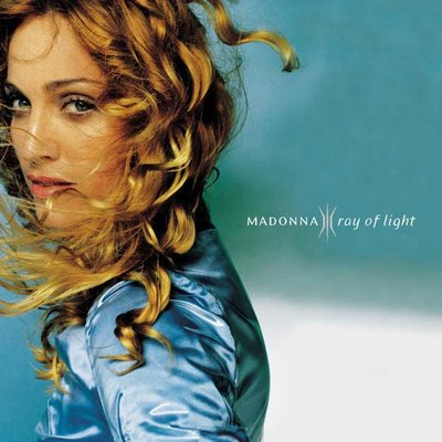 Madonna strahl, ray of light album cover